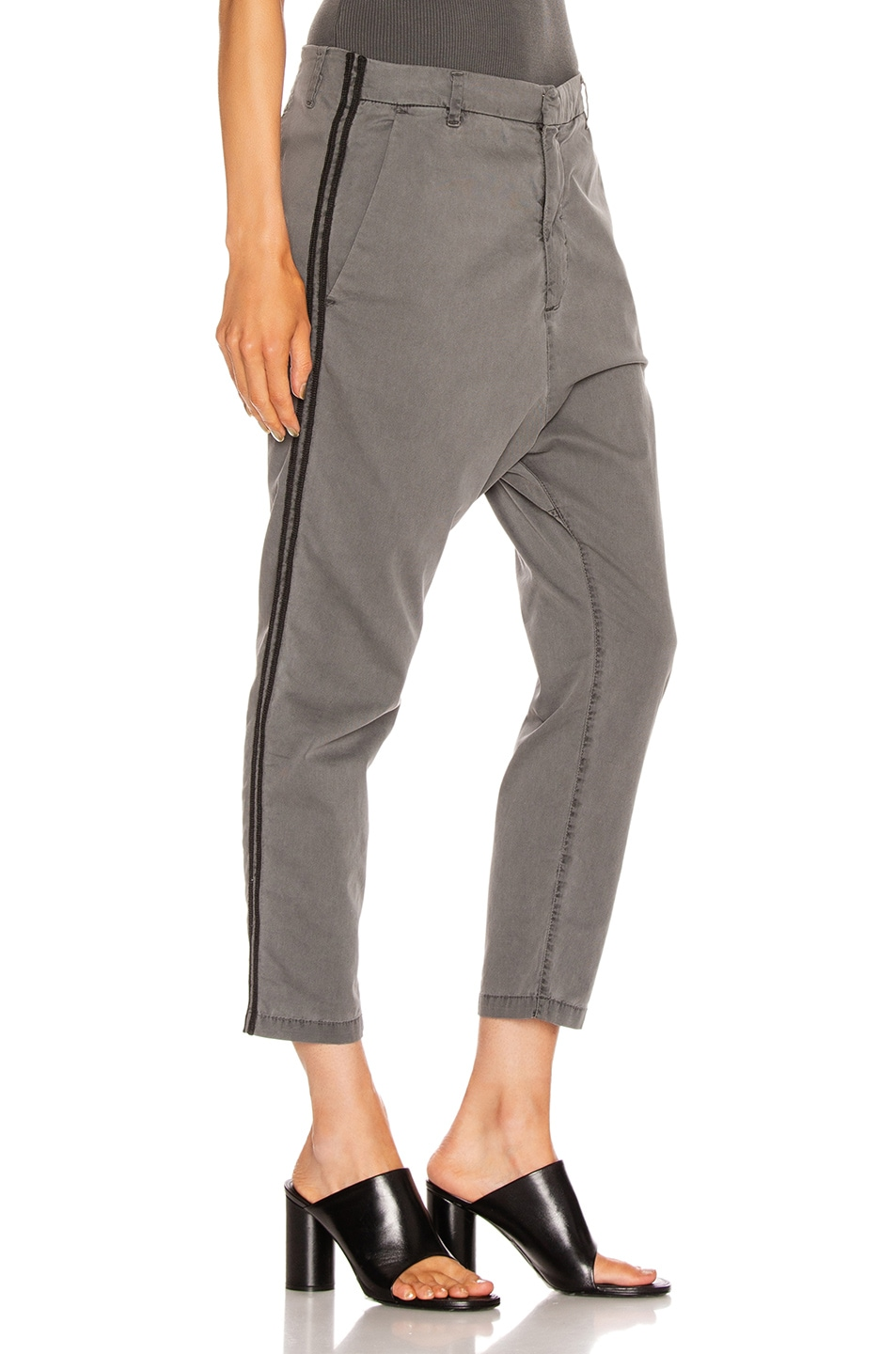 Image 3 of NILI LOTAN Paris Pant with Double Tape in Charcoal & Black
