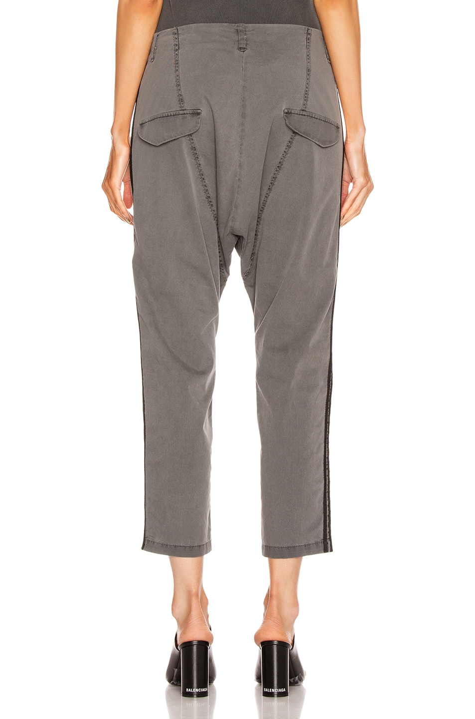Image 4 of NILI LOTAN Paris Pant with Double Tape in Charcoal & Black