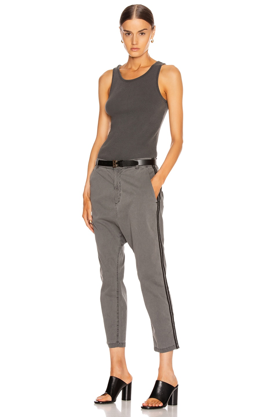 Image 5 of NILI LOTAN Paris Pant with Double Tape in Charcoal & Black