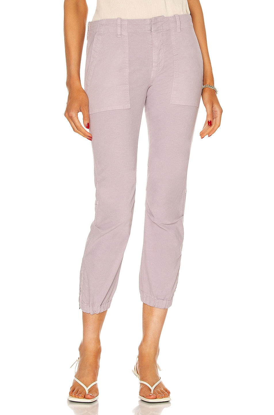 Image 1 of NILI LOTAN Cropped Military Pant in Lilac