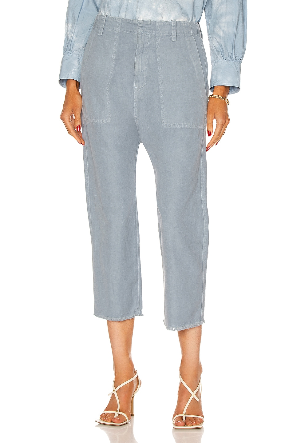 Image 1 of NILI LOTAN Luna Pant in Slate Blue