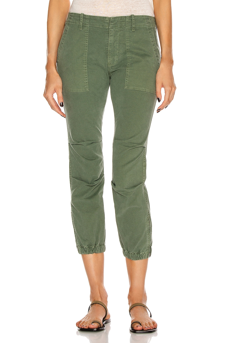 Image 1 of NILI LOTAN Cropped Military Pant in Camo