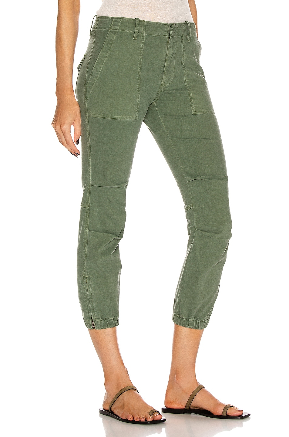 Image 2 of NILI LOTAN Cropped Military Pant in Camo
