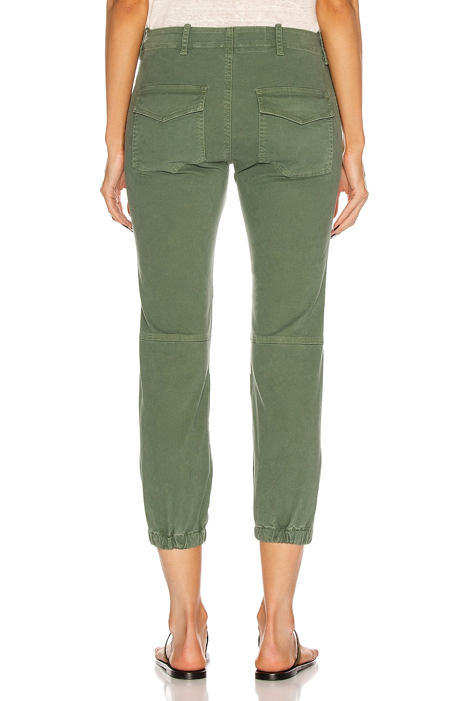 Image 3 of NILI LOTAN Cropped Military Pant in Camo