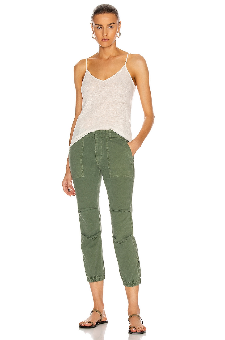 Image 4 of NILI LOTAN Cropped Military Pant in Camo
