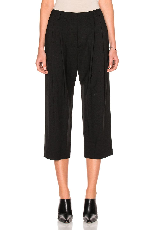 Nili Lotan Laney Stretch-wool Trousers In Black