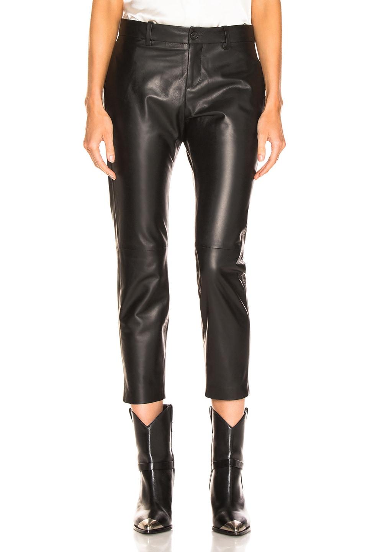 Image 1 of NILI LOTAN Tel Aviv Leather Pant in Black