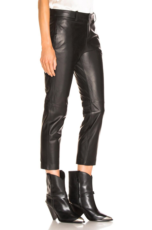 Image 2 of NILI LOTAN Tel Aviv Leather Pant in Black