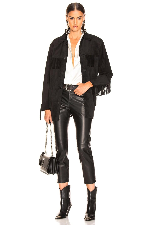 Image 4 of NILI LOTAN Tel Aviv Leather Pant in Black