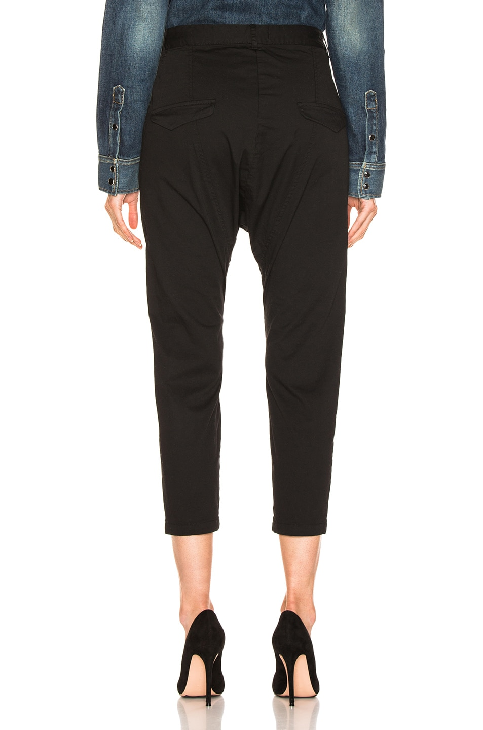 Image 3 of NILI LOTAN Lace Up Avery Pant in Jet Black