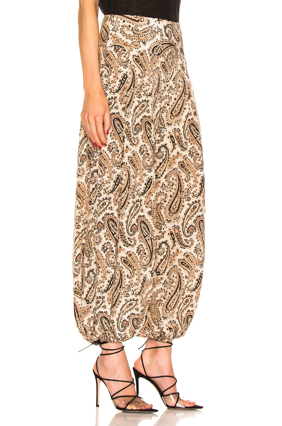 Image 2 of NILI LOTAN Moscow Pant in Black & Beige Paisley