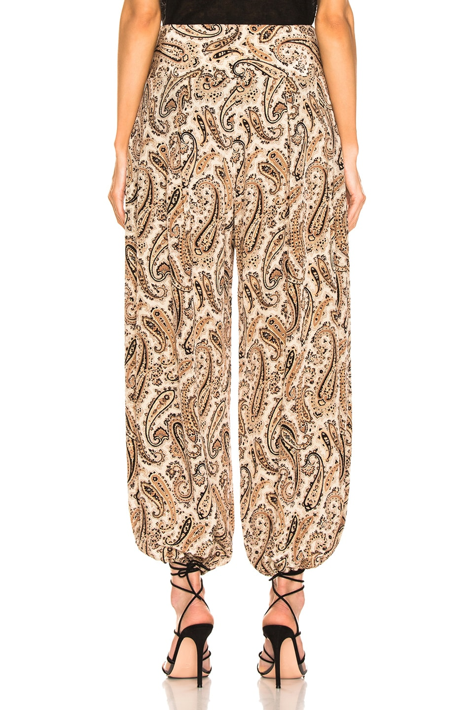 Image 3 of NILI LOTAN Moscow Pant in Black & Beige Paisley