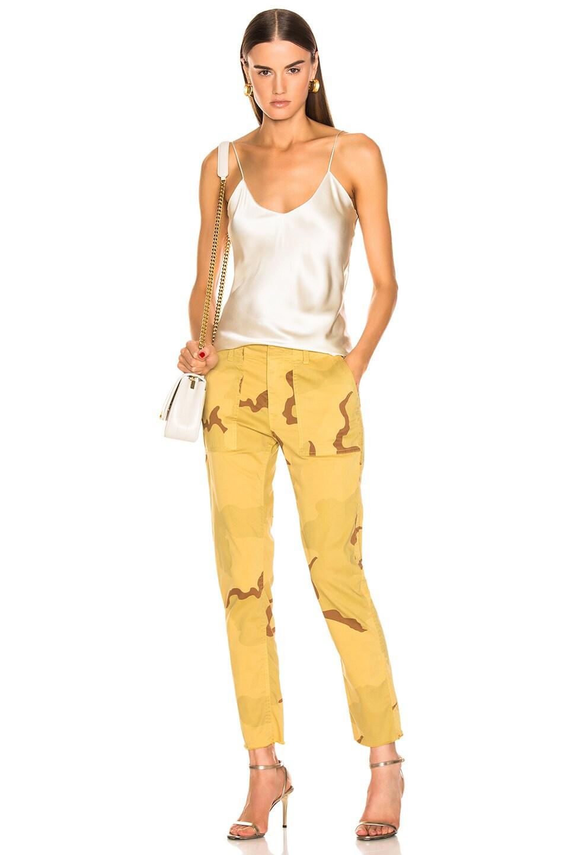 Image 4 of NILI LOTAN Jenna Pant in Golden Camouflage