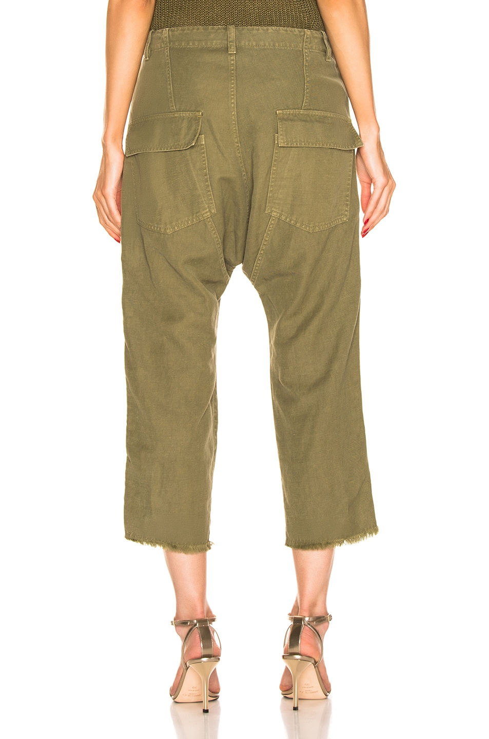 Image 4 of NILI LOTAN Luna Pant with Tape in Uniform Green, Orange, Navy Blue