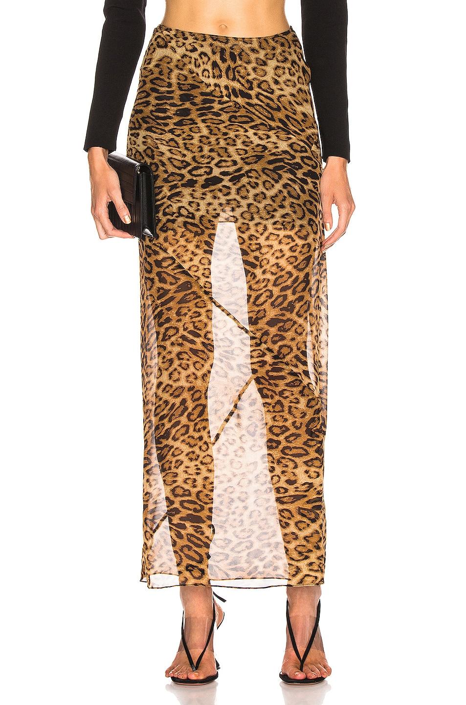 Image 1 of NILI LOTAN Ella Skirt in Brown Leopard Print