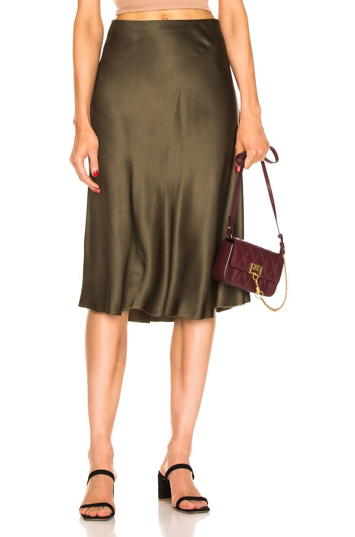Image 1 of NILI LOTAN Lane Skirt in Army Green