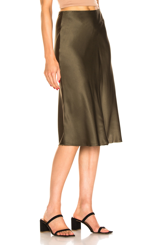 Image 2 of NILI LOTAN Lane Skirt in Army Green