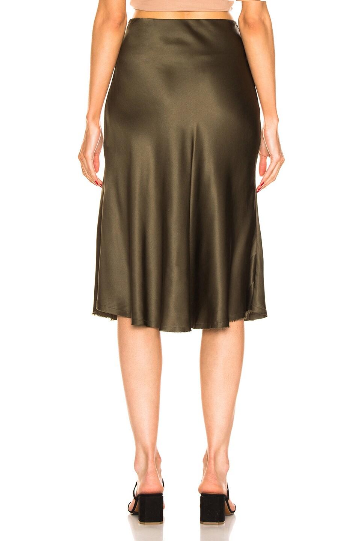 Image 3 of NILI LOTAN Lane Skirt in Army Green