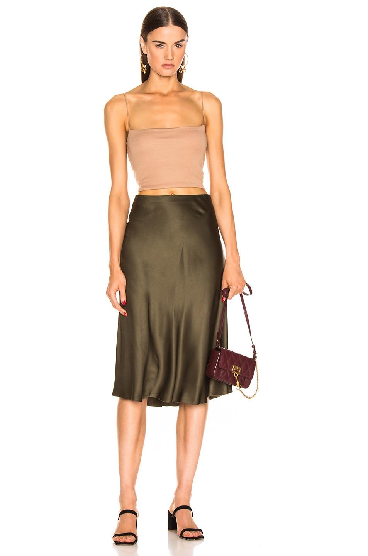 Image 4 of NILI LOTAN Lane Skirt in Army Green