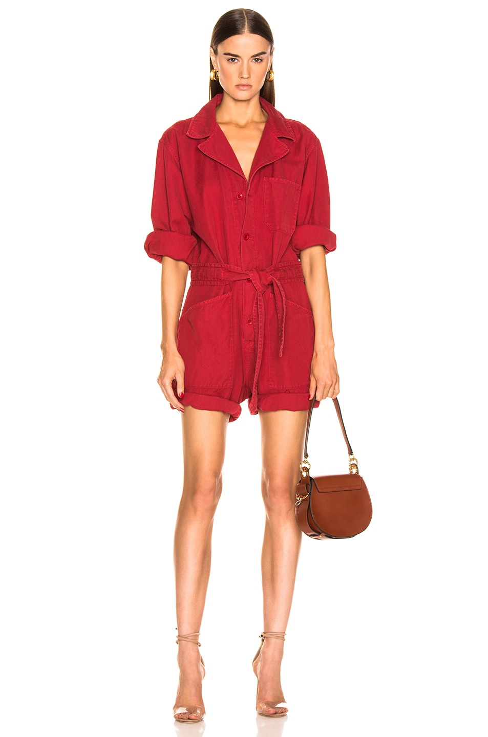 Image 1 of NILI LOTAN Ariana Jumpsuit in Sunkissed Red