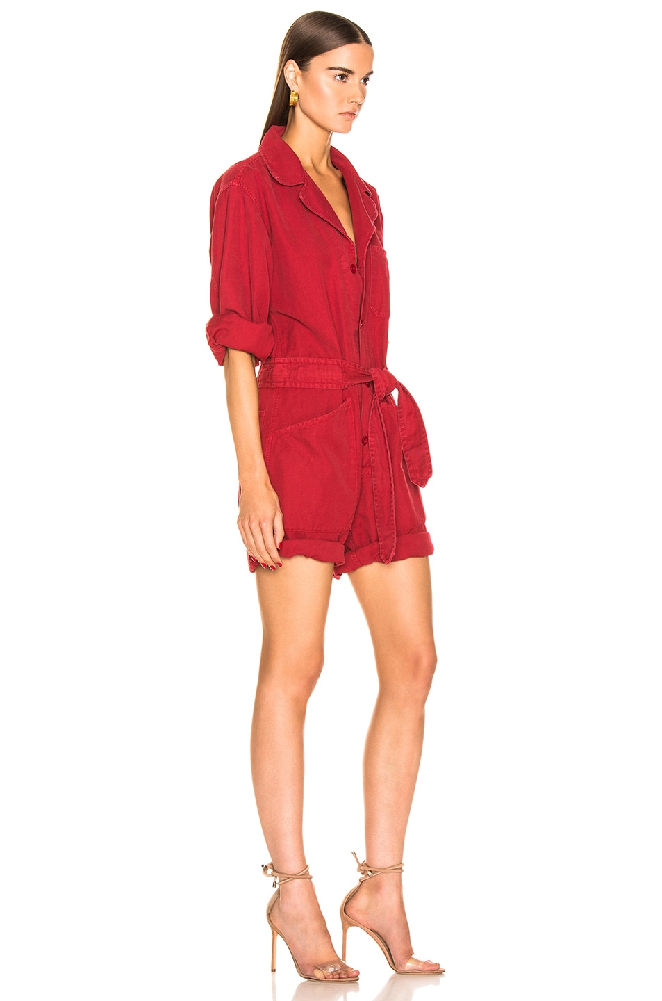 Image 2 of NILI LOTAN Ariana Jumpsuit in Sunkissed Red