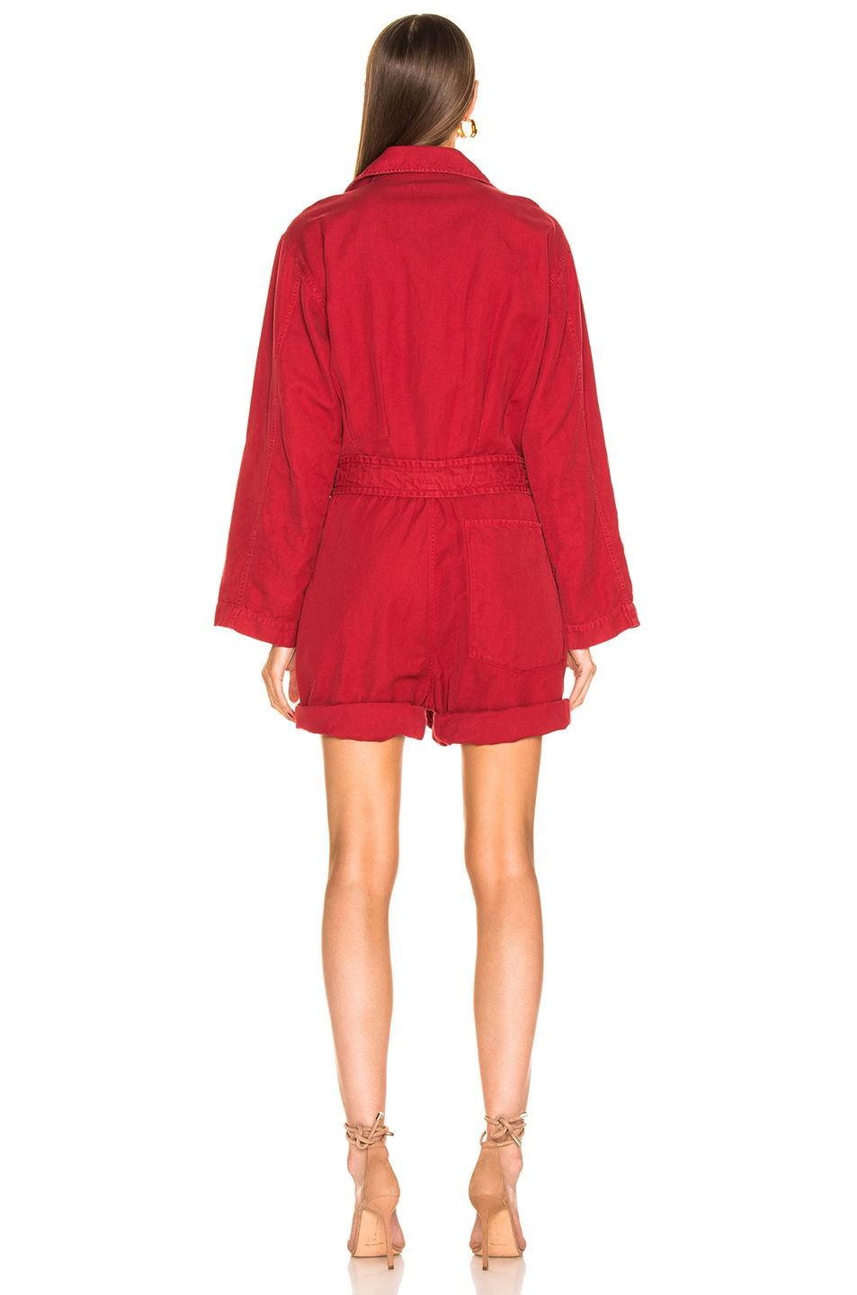 Image 3 of NILI LOTAN Ariana Jumpsuit in Sunkissed Red