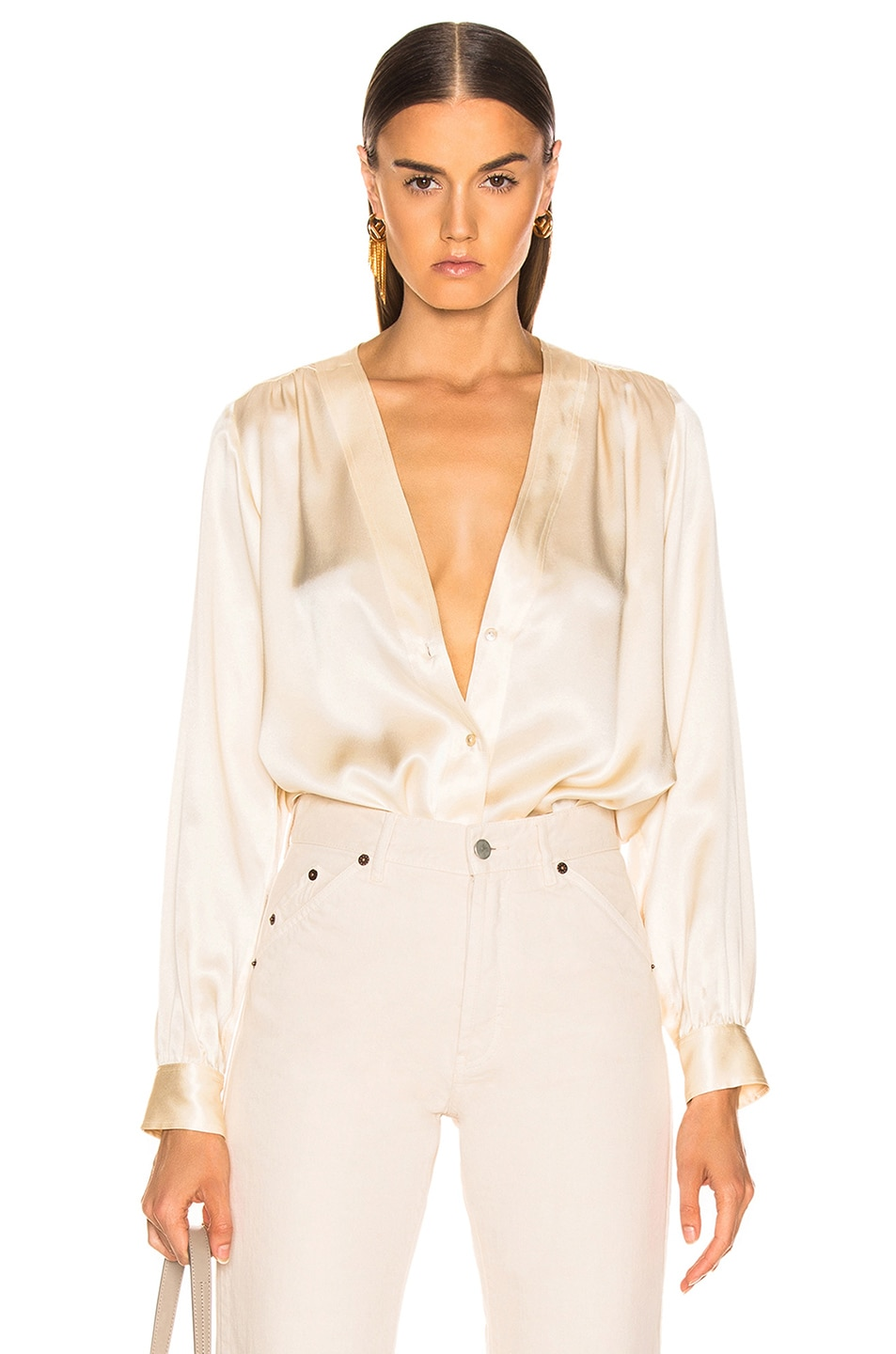 Image 1 of NILI LOTAN Elsie Shirt in Champagne