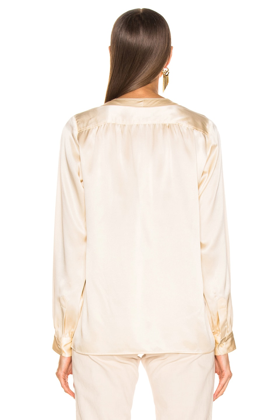 Image 3 of NILI LOTAN Elsie Shirt in Champagne