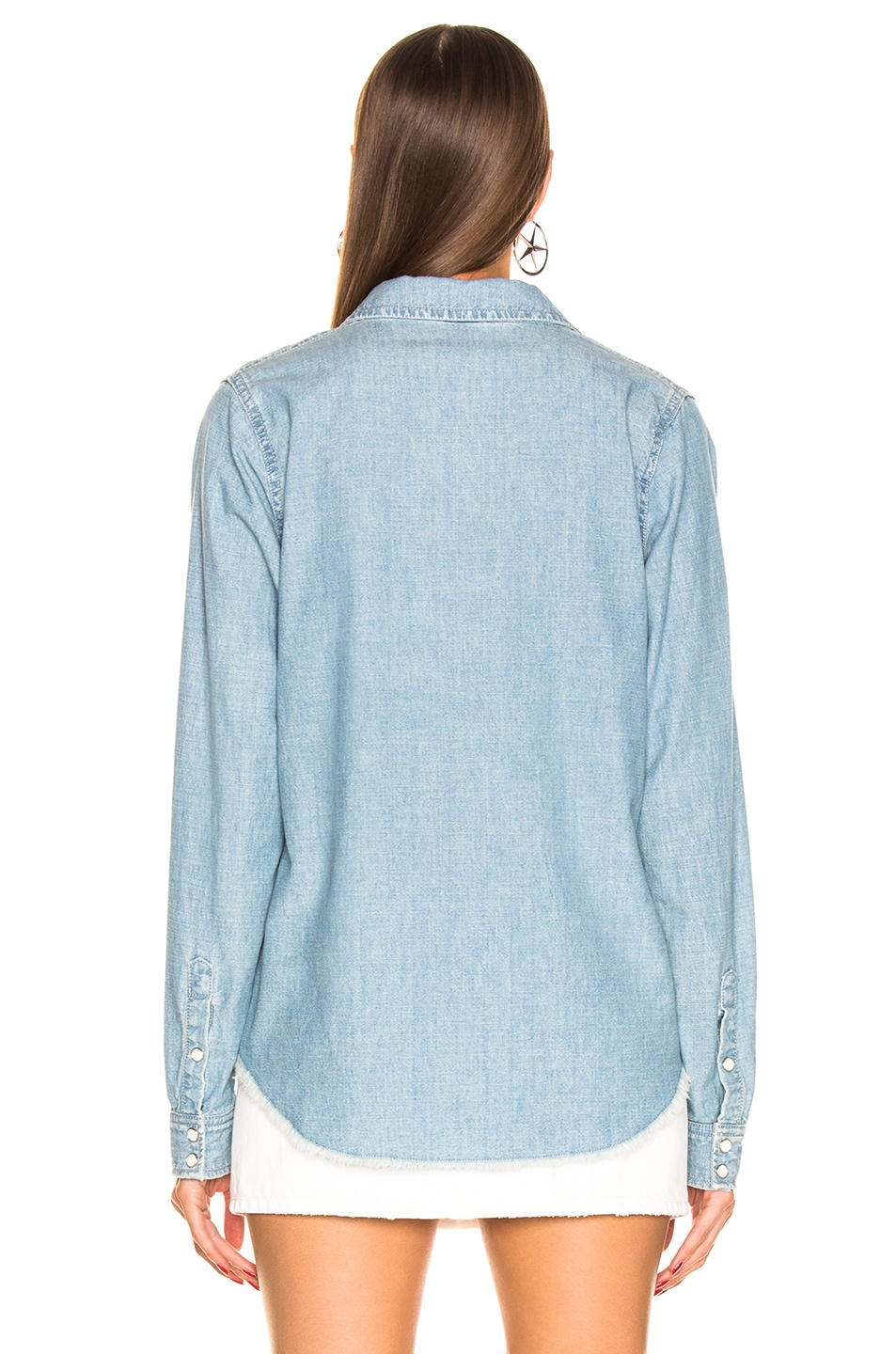 Image 3 of NILI LOTAN Mallory Shirt in Sky Blue