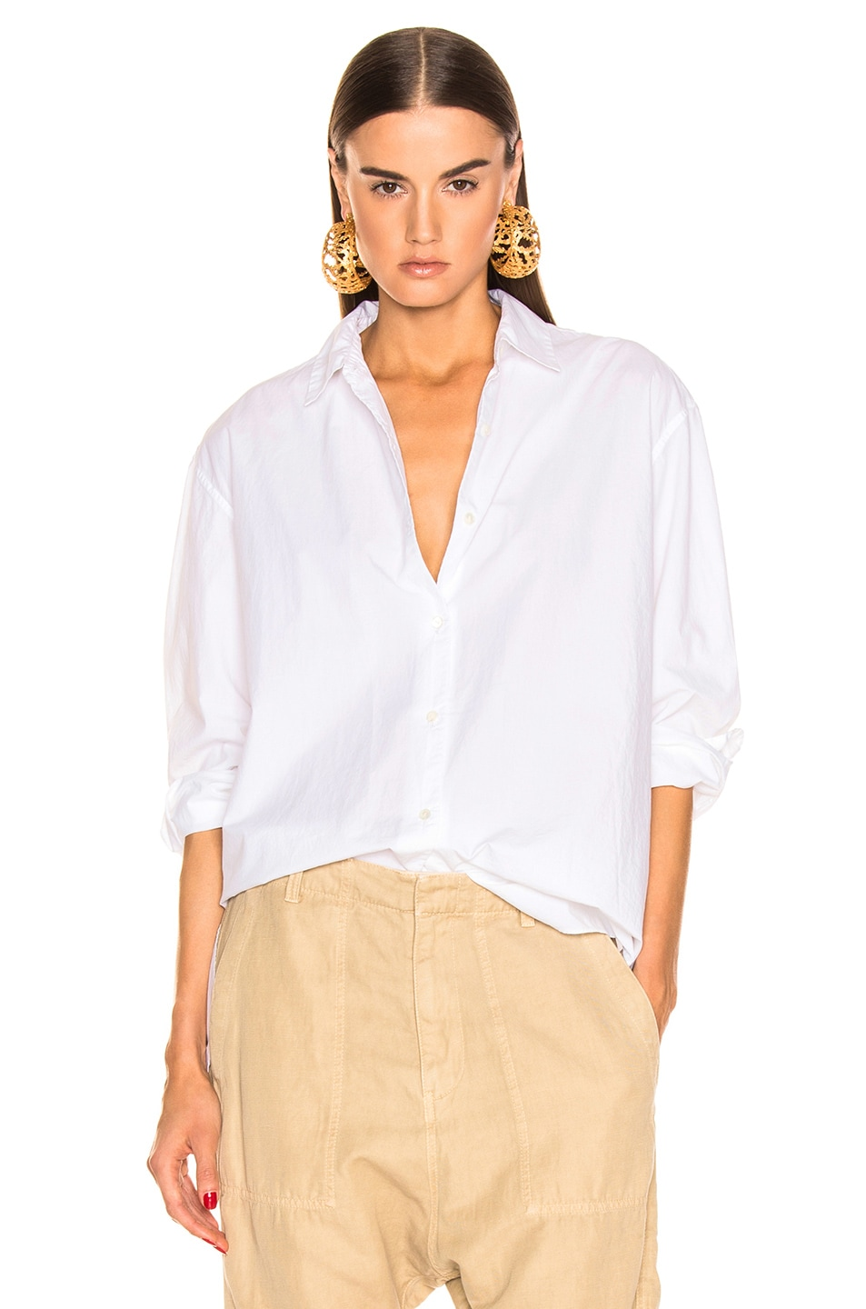 Image 1 of NILI LOTAN Yorke Shirt in White