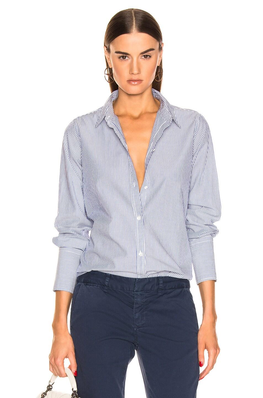 Image 1 of NILI LOTAN Helen Shirt in Blue Stripe