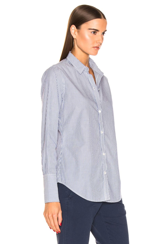 Image 2 of NILI LOTAN Helen Shirt in Blue Stripe