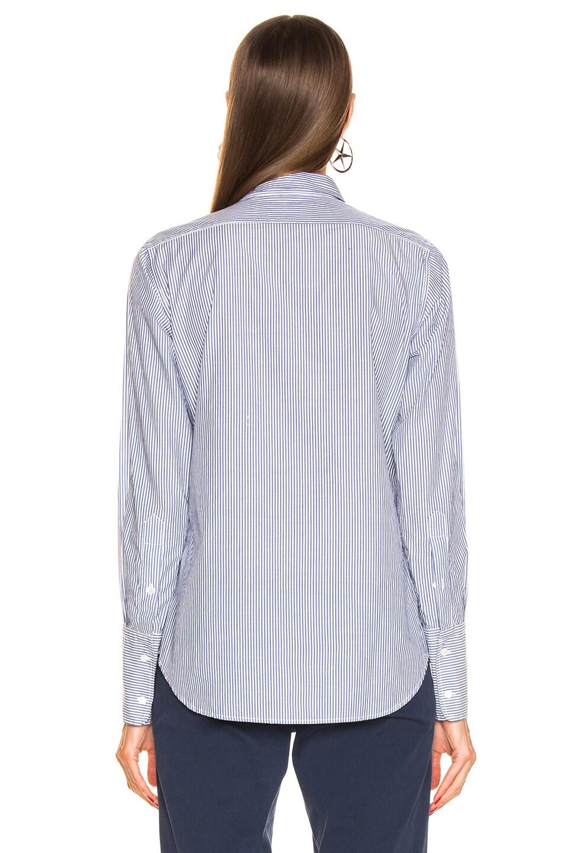 Image 3 of NILI LOTAN Helen Shirt in Blue Stripe