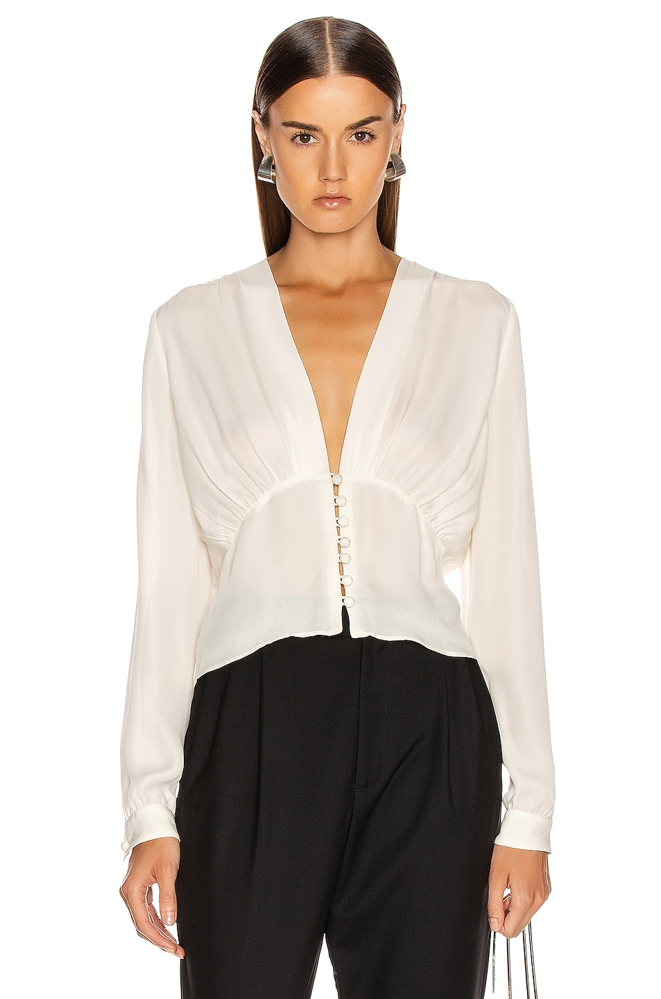 Image 1 of NILI LOTAN Laila Top in Ivory