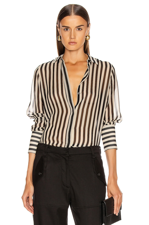 Image 1 of NILI LOTAN Lleida Shirt in Black & Cream Stripe