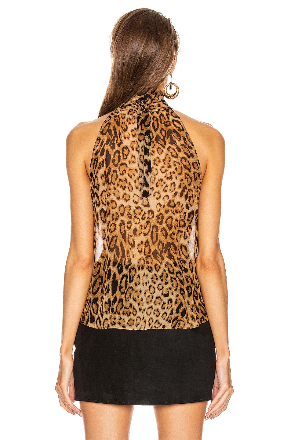 Image 3 of NILI LOTAN Alameda Top in Ginger Leopard Print