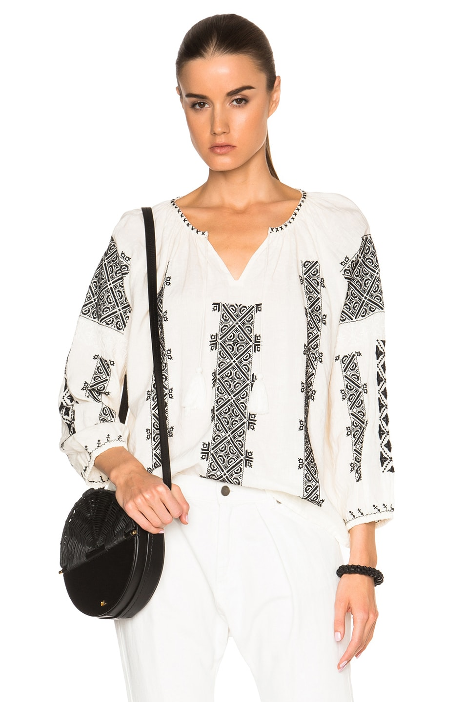 Image 1 of Nili Lotan Bohemian Top in White