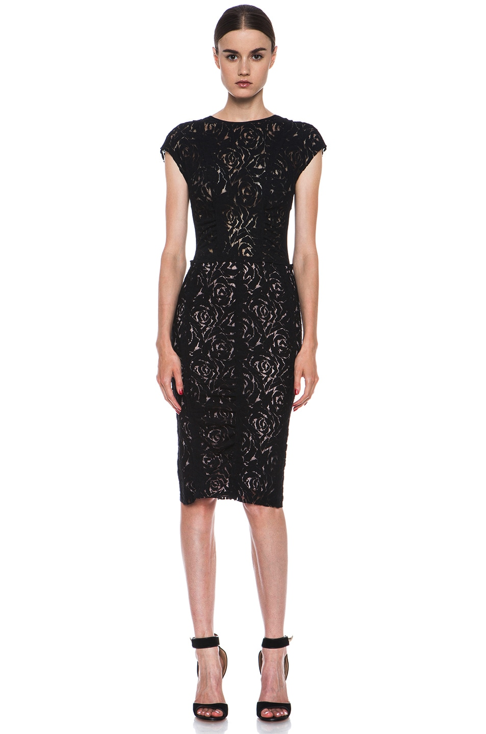 Image 1 Of Nina Ricci Lace Dress In Black
