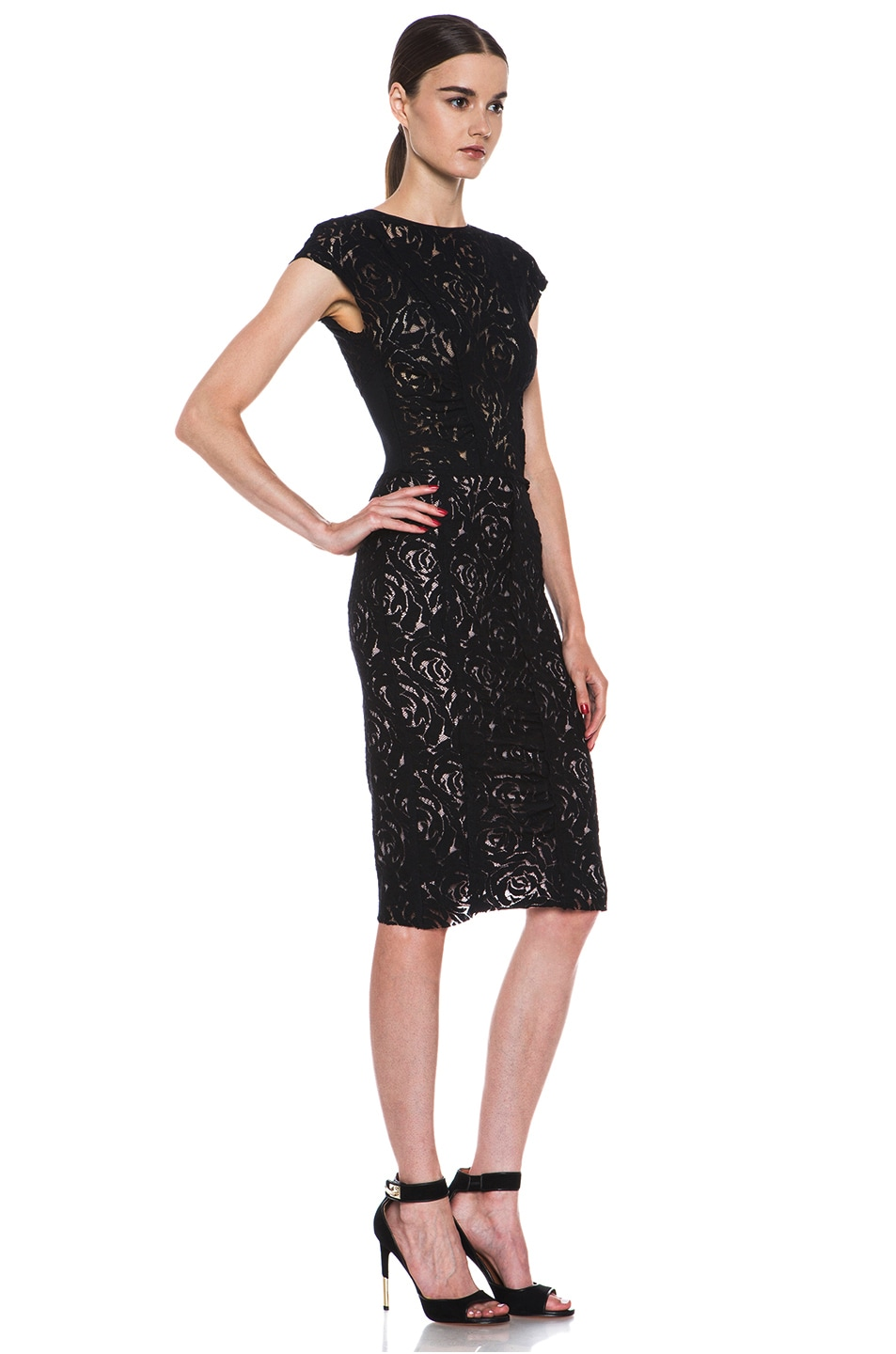 Image 3 Of Nina Ricci Lace Dress In Black