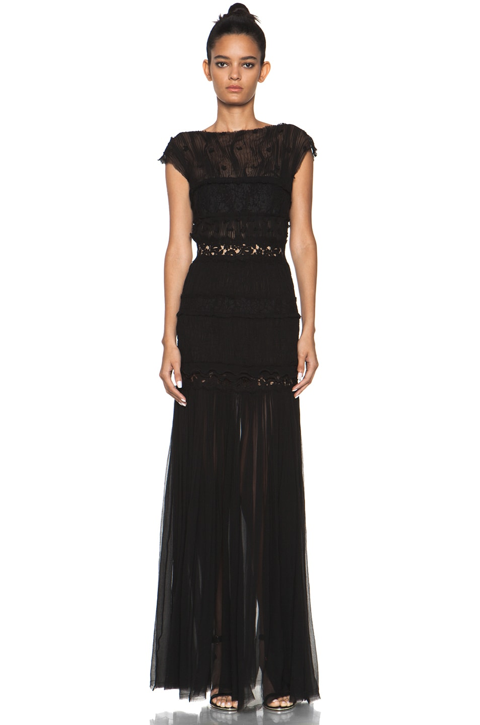 Image 1 of Nina Ricci Long Gown in Black