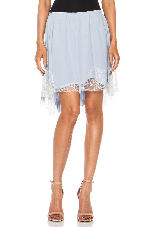 Image 1 of Nina Ricci Asymmetric Silk Skirt in Multi