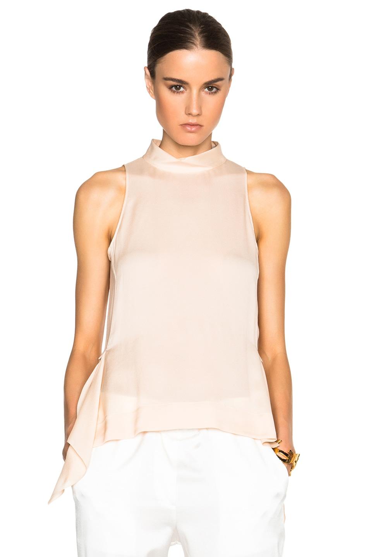 Image 1 of Nina Ricci Sleeveless Blouse in Light Peach
