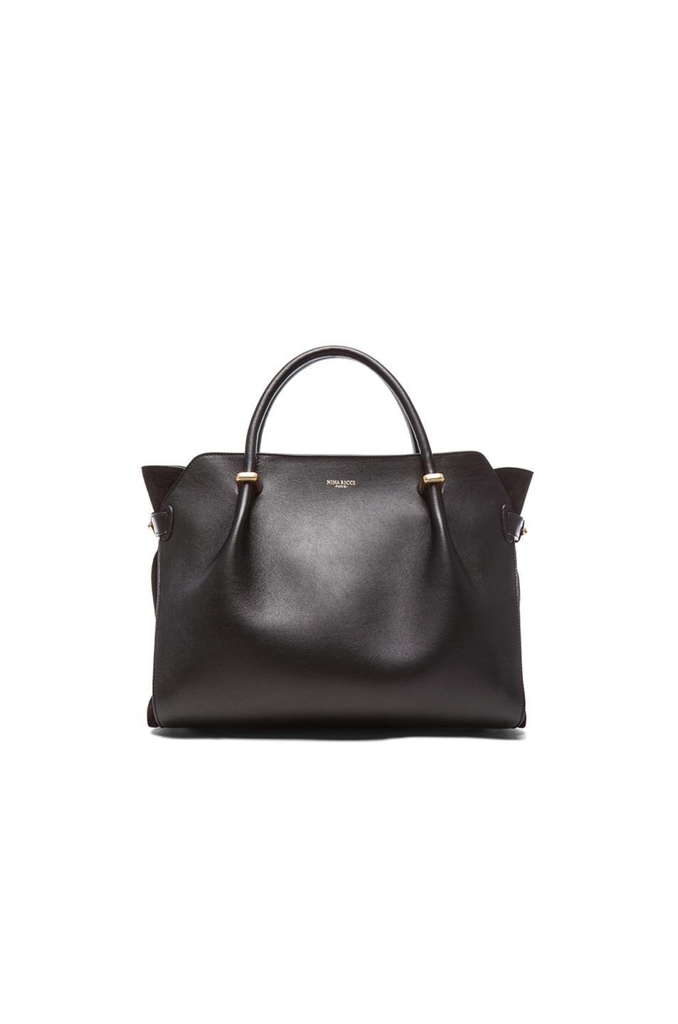 Image 1 of Nina Ricci Small Marche Satchel in Noir