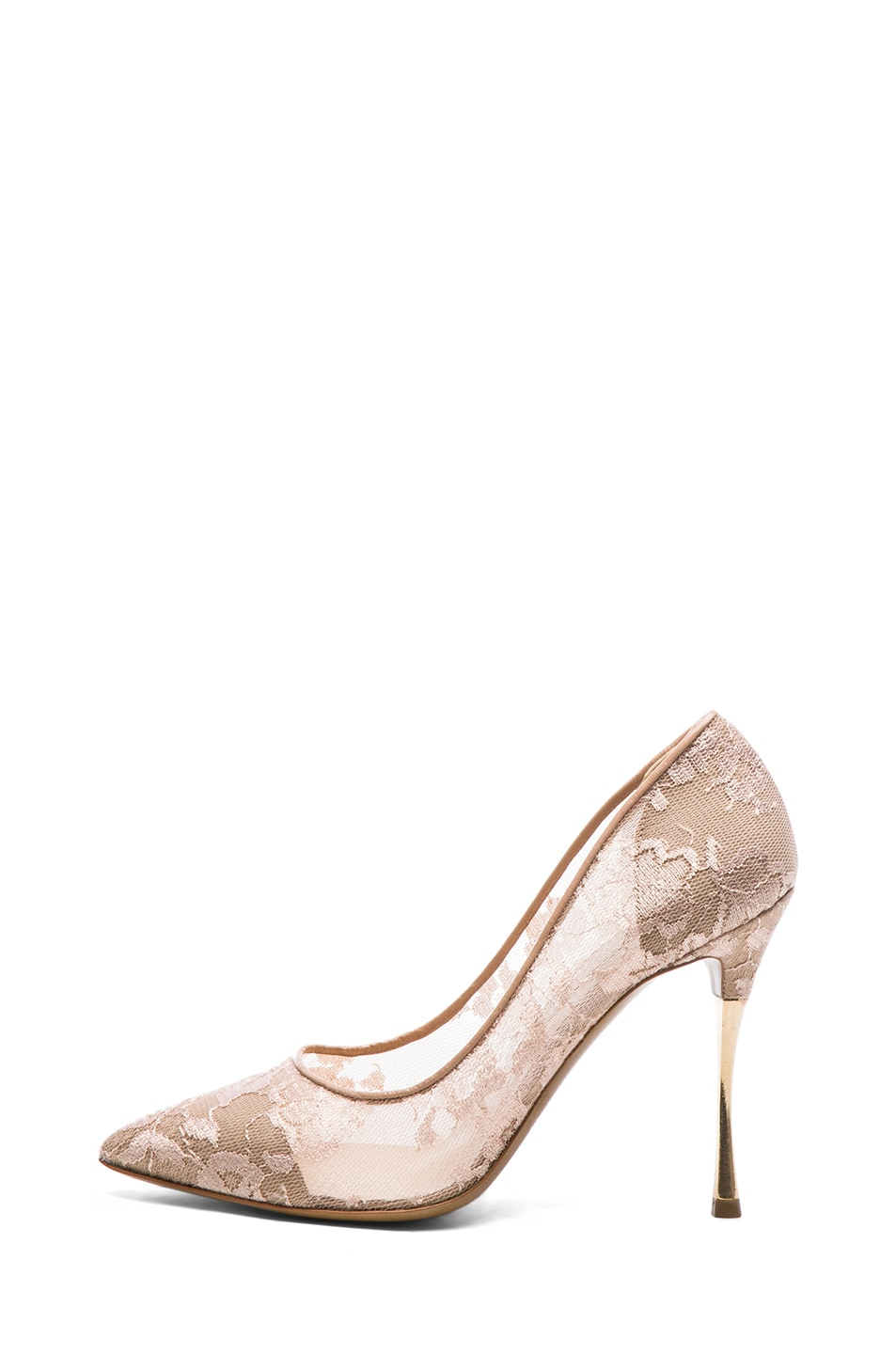 Image 1 of Nicholas Kirkwood Lace Pumps in Nude