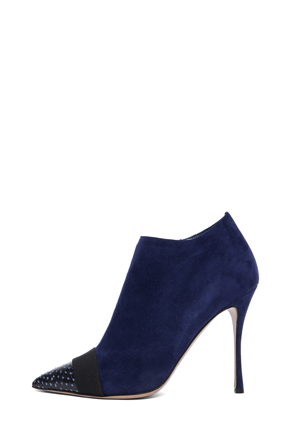 Image 1 of Nicholas Kirkwood Suede Ankle Boots in Black & Indigo