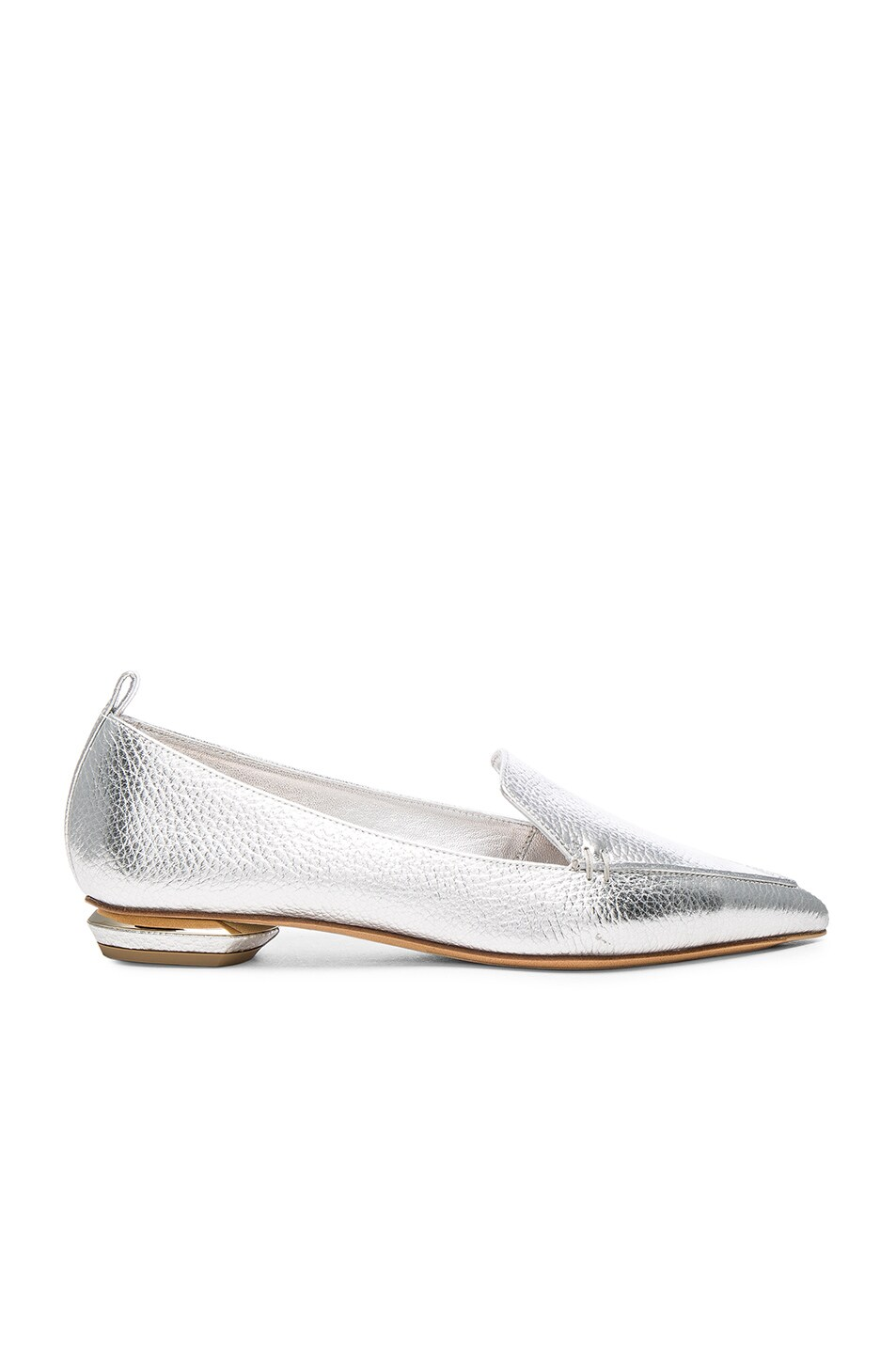 Image 1 of Nicholas Kirkwood Leather Beya Loafers in Silver