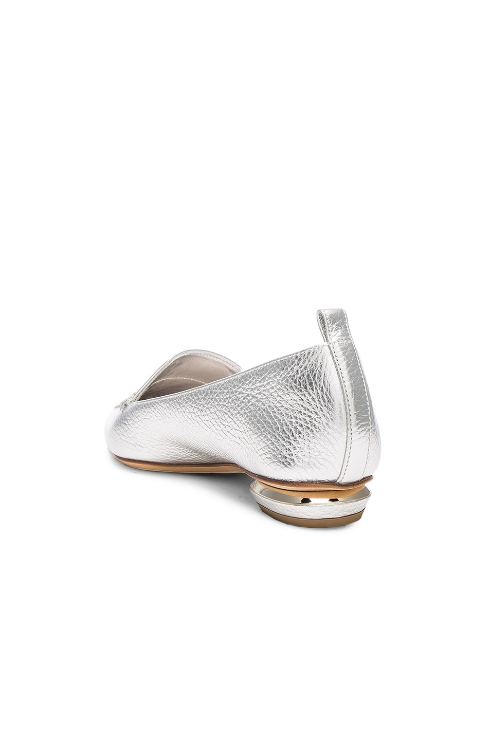 Image 3 of Nicholas Kirkwood Leather Beya Loafers in Silver