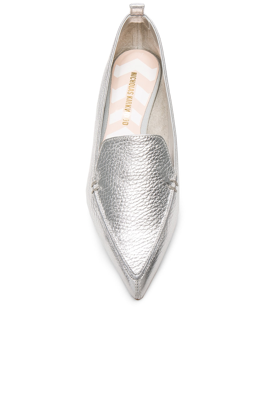 Image 4 of Nicholas Kirkwood Leather Beya Loafers in Silver