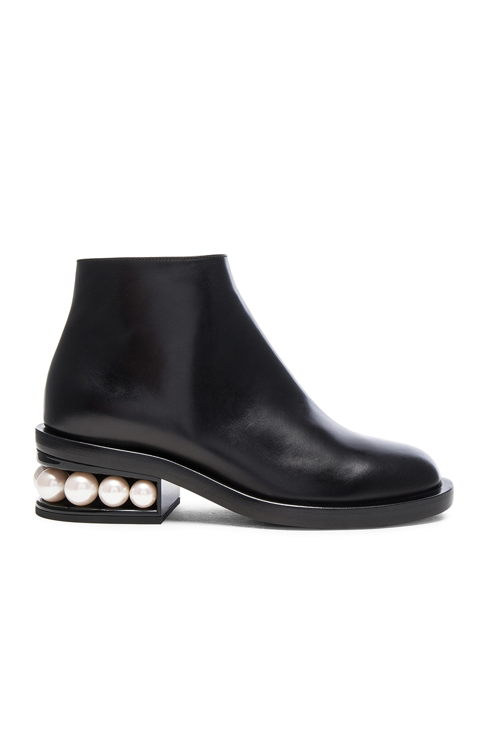 Image 1 of Nicholas Kirkwood Leather Casati Pearl Boots in Black