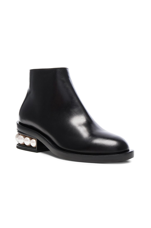 Image 2 of Nicholas Kirkwood Leather Casati Pearl Boots in Black